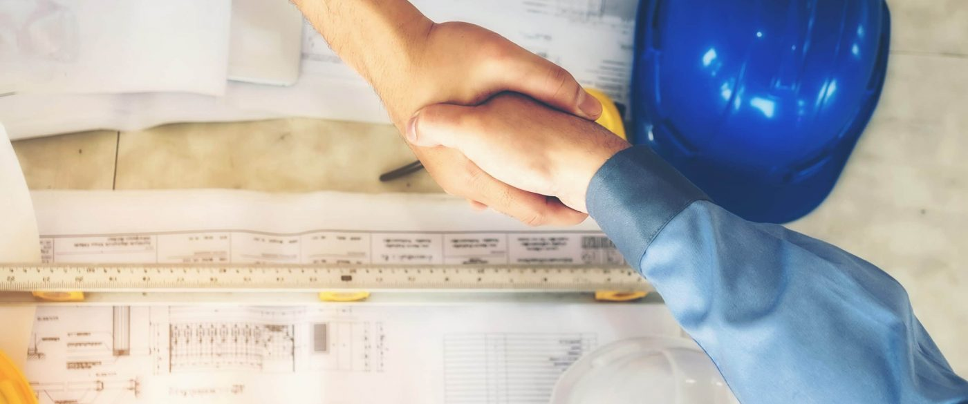 Client and Builder Shake Hands